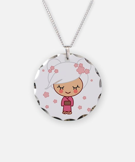 cherry blossom girl Necklace