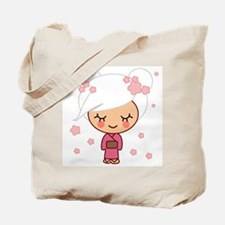 cherry blossom girl Tote Bag