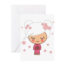 cherry blossom girl Greeting Card