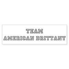 American Brittany Bumper Bumper Sticker