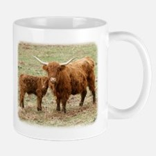 Highland Cow and calf 9Y316D-045 Mug