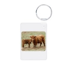 Highland Cow and calf 9Y316D-045 Keychains