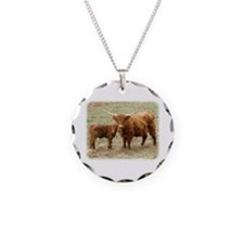 Highland Cow and calf 9Y316D-045 Necklace