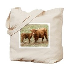 Highland Cow and calf 9Y316D-045 Tote Bag