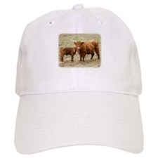 Highland Cow and calf 9Y316D-045 Baseball Cap