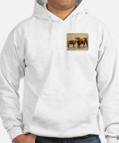 Highland Cow and calf 9Y316D-045 Hoodie