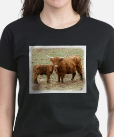 Highland Cow and calf 9Y316D-045 Tee