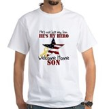 Welcome home military Mens White T-shirts