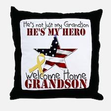 He's not just my Grandson, He Throw Pillow
