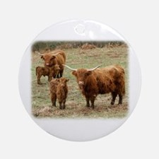 Highland Cattle 9Y316D-055 Ornament (Round)