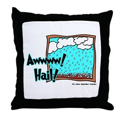 Aww Hail Storm Throw Pillow