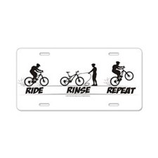 Cute Cyclocross Aluminum License Plate