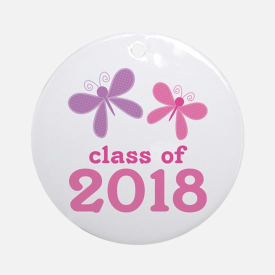 2018 Girls Graduation Ornament (Round)