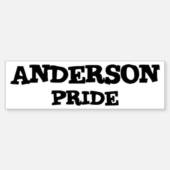 Anderson Pride Bumper Bumper Bumper Sticker