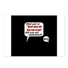 Don't Piss Off The Run Crew! Postcards (Package of