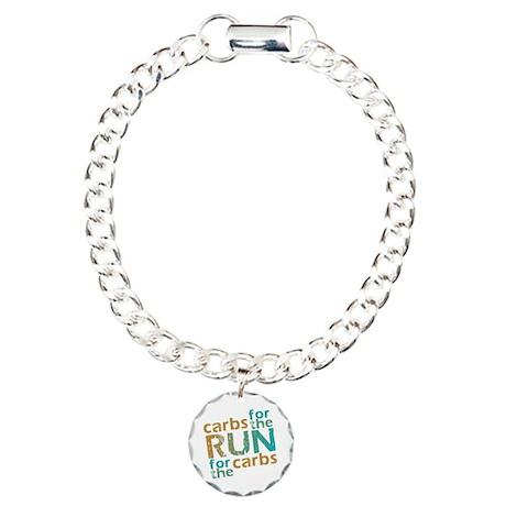 RUN Carbs Charm Bracelet, One Charm