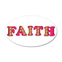 Faith 38.5 x 24.5 Oval Wall Peel