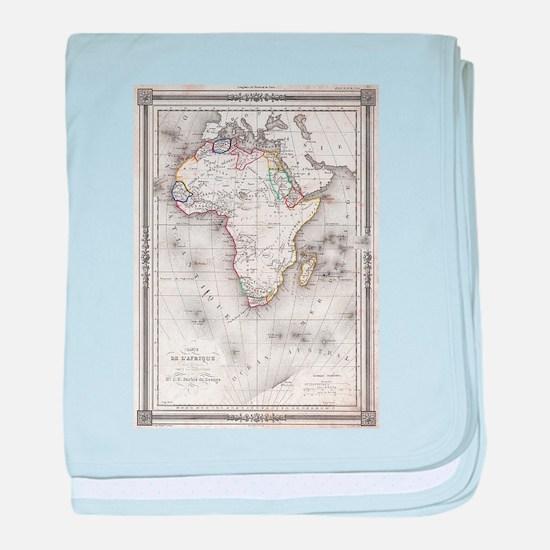 Vintage Map of Africa (1852) baby blanket
