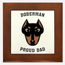 Doberman Proud Dad Framed Tile