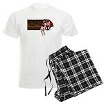 Anime Sleeping Succubus Art on Men's Light Pajamas