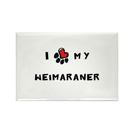 I *heart* My Weimaraner Rectangle Magnet (100 pack