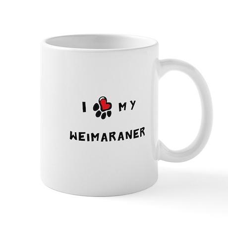 I *heart* My Weimaraner Mug