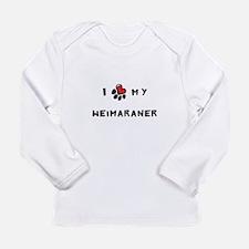 I *heart* My Weimaraner Long Sleeve Infant T-Shirt