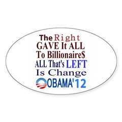 Right Gave To The Rich Sticker (Oval)