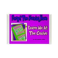 Nursing Home Casino Rectangle Magnet