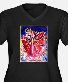 Fiesta Dancer, Bright, Women's Plus Size V-Neck Da