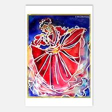 Fiesta Dancer, Bright, Postcards (Package of 8)