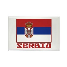 Flag of Serbia Rectangle Magnet