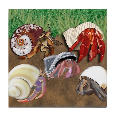 5 Crabs Tile Coaster