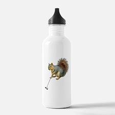Golfing Squirrel Water Bottle