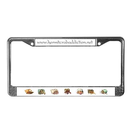 Hermit Crab Addiction License Plate Frame
