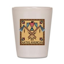 Native American Tomahawks Shot Glass