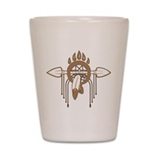 Brown Dreamcatcher Shot Glass
