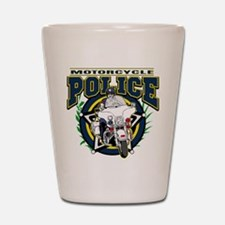 Motorcycle Police Officer Shot Glass