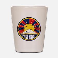 Free Tibet Grunge Shot Glass