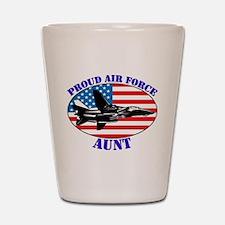 Proud Air Force Aunt Shot Glass