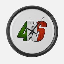 VR 46 Flag Large Wall Clock