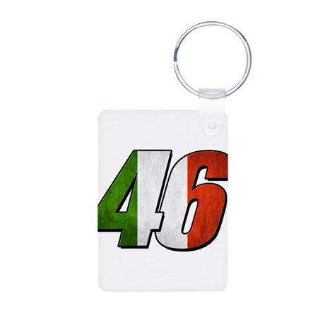 VR 46 Flag Aluminum Photo Keychain