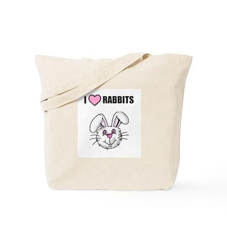 i love rabbits Tote Bag