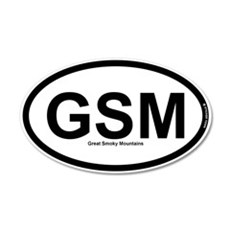 GSM - Great Smoky Mountains 22x14 Oval Wall Peel