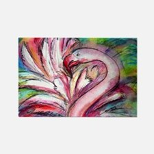 Flamingo, colorful, Rectangle Magnet