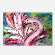 Flamingo, colorful, Postcards (Package of 8)