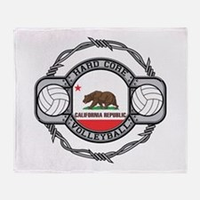 California Volleyball Throw Blanket