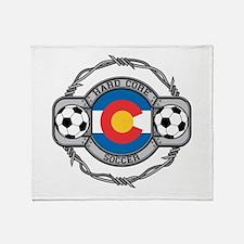 Colorado Soccer Throw Blanket