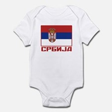 Flag of Serbia Infant Bodysuit