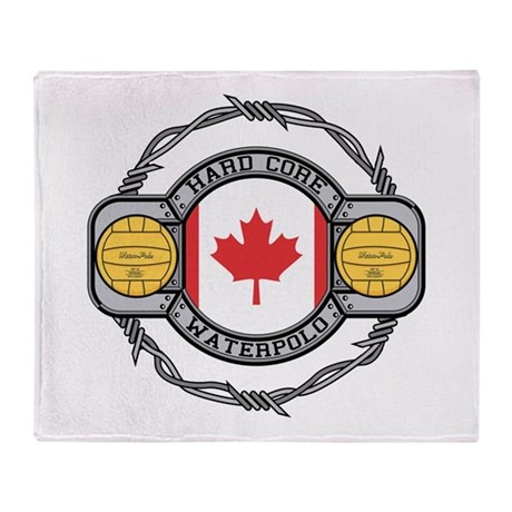 Canada Water Polo Throw Blanket